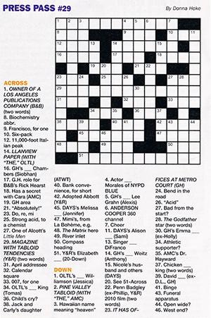 Very appropriate crossword